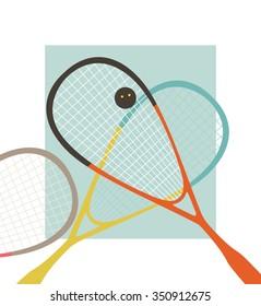vector squash racket