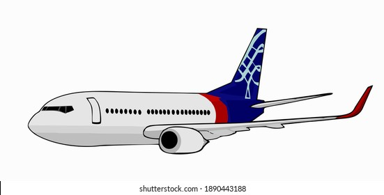 a vector of a Sriwijaya airplane in Indonesia