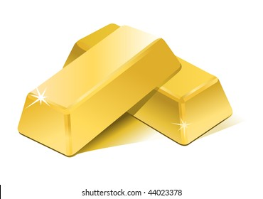 Vector stacked bars of gold bullion