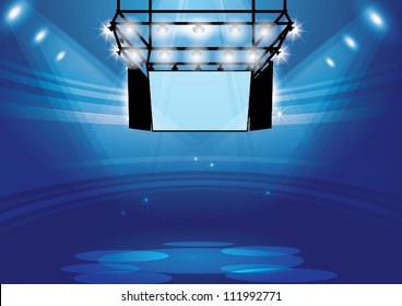 Vector Stage Spotlight with monitor hanging
