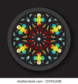 Vector Stained Glass Window Design