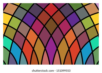 Vector stained-glass window