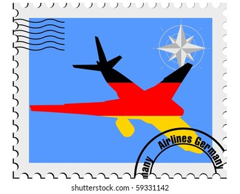 vector stamp with the flag of Germany
