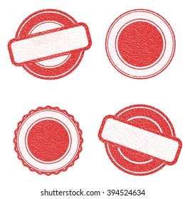 Vector Stamp without text. Set of Stamps . Red Stamps . Grunge Rubber Texture Stamp . Distressed Stamp Texture . Post Stamp Collection . Vector Stamps . Circle Stamps .