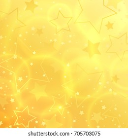 Vector Star abstract background design. Holliday happy background. Star shape sparkle effect on gold backdrop template