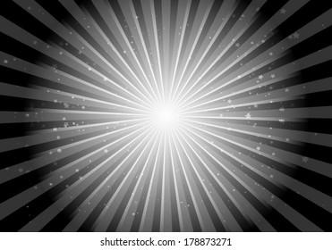Vector star abstract brust background illustration - Vector space blast  template illustration