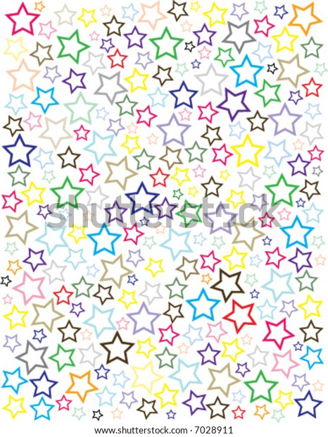 Vector Star Background on white