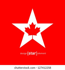 The Vector Star with Canadian maple Leaf
