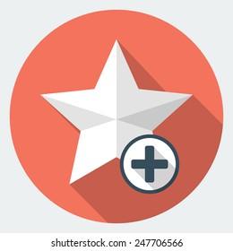 Vector star favorite icon