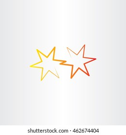vector star icon sign illustration element