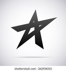 Vector star logo template