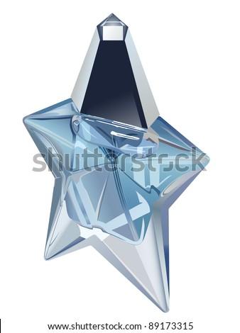 Vector Star Shape Perfume Bottle On Stock Vector Royalty Free