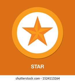 vector star symbol, rating or award shape, success icon