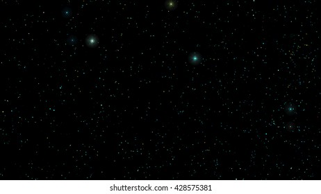 Vector Stars in night sky. Background illustration