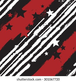 Vector Stars and Stripes seamless pattern for print design or web background