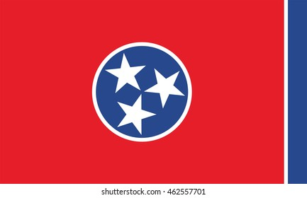 Vector State of Tennessee flag