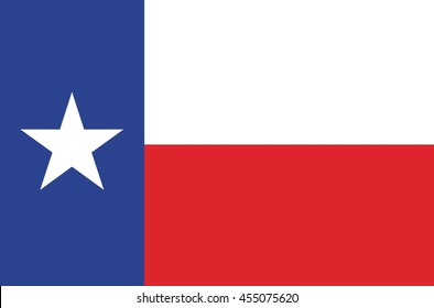 Vector State of Texas flag