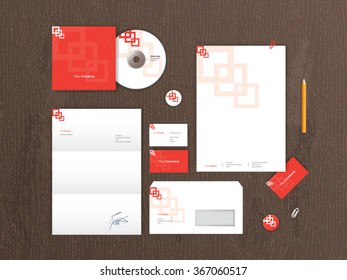Vector stationery mock up. Corporate identity template design.