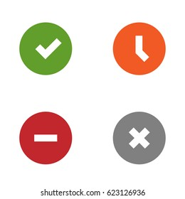 Vector Status Icon Set
