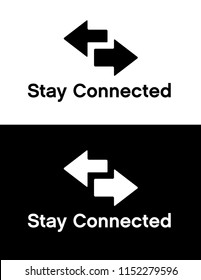Vector Stay Connected Icon Set