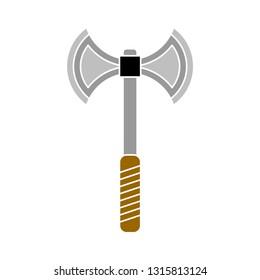 vector steel axe double illustration