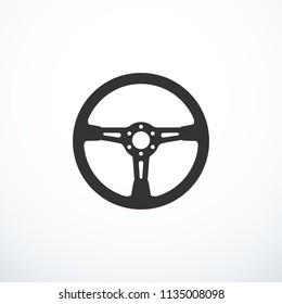 Vector steering wheel icon