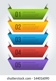 Vector step options banners and numbers design template for web site. Vector illustration.