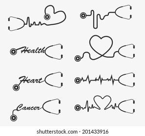 Vector stethoscope icons design