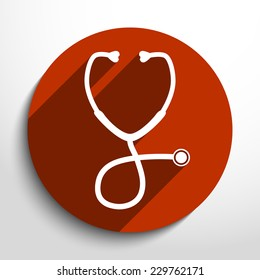Vector stethoscope web icon.Eps10.