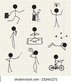Stick Figure Relaxing Images Stock Photos Vectors Shutterstock