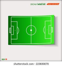 Vector sticker football field eps 10