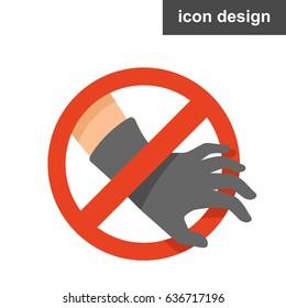 Vector sticker stop stealing
