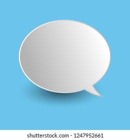 Vector of stickers of speech bubbles. Blank empty speech bubbles
