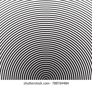 Vector stock abstract gradient background with black circle lines halftone  template. Retro Gradient Halftone lines pattern background for business design. texture in pop art style.