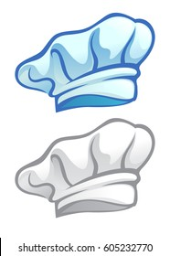 Vector stock of a chefs hat icon in two color options