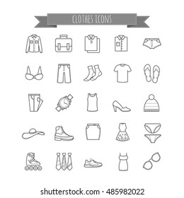 Vector stock clothes icons