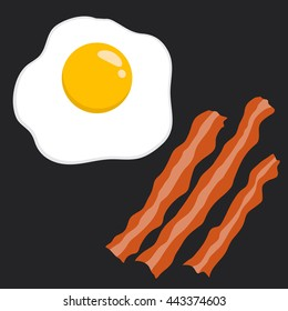 Vector stock of egg and bacon delicious breakfast food