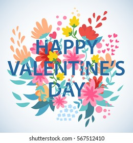 Vector stock of Happy valentine's day with a floral design
