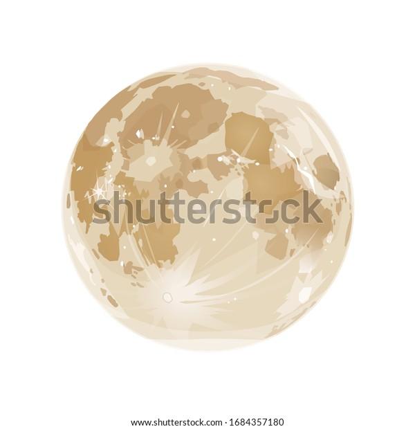 ベクター画像素材イラスト|満月