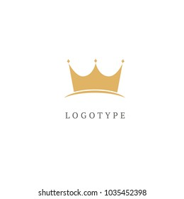 Vector stock logo, abstract crown vector template. Illustration design of elegant, premium and royal logotype queen and king crown . Vector icon of wedding.