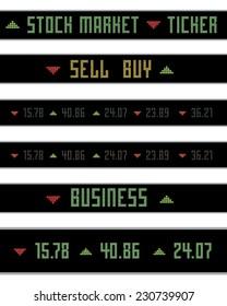 Vector stock market ticker information and numbers set