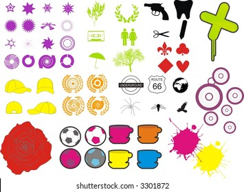 vector stock pack design elements