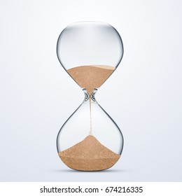 Vector stock of Sand Hour glass isolated on white background. Realistic illustration style