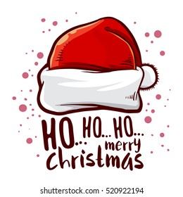 Vector stock of Santa Claus hat with Christmas greetings text