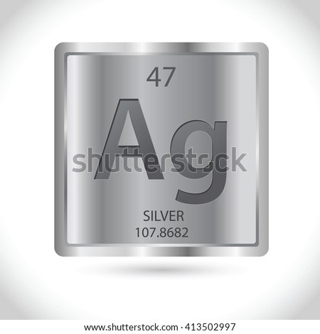 Vector Stock Silver Square Silver Chemical Stock Vector Royalty