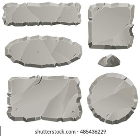Vector stone design elements for game and web