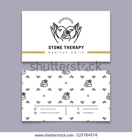 Vector stone therapy business card template stock vector royalty vector stone therapy business card template stone massage beauty spa relax and natural flashek Gallery