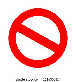 vector stop sign icon. No sign, red warning isolated - Prohibition