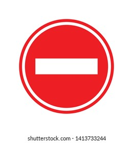 vector stop sign icon. No sign. red warning isolated. Not Allowed icon. flat illustration of Not Allowed vector icon for web