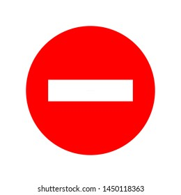 vector stop sign icon. No sign, red warning isolated. Not Allowed icon. flat illustration of Not Allowed vector icon for web